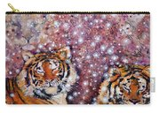 Sleeping Tigers Dream Such Sweet Dreams Kitties In Heaven Carry-all Pouch
