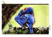 Sleepy Bluebird Carry-all Pouch