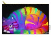 Sleepy Colorful Cat Carry-all Pouch