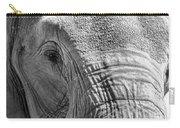 Sleepy Elephant Lady Black And White Carry-all Pouch