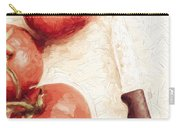Sliced Tomatoes. Vintage Cooking Artwork Carry-all Pouch