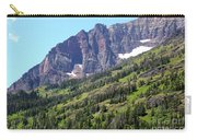 Sloping Mountain At Two Medicine Lake Carry-all Pouch by Carol Groenen
