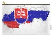 Slovakia Painted Flag Map Carry-all Pouch
