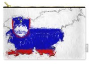 Slovenia Painted Flag Map Carry-all Pouch