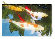 Slow Drift - Colorful Koi Fish Carry-all Pouch by Sharon Cummings
