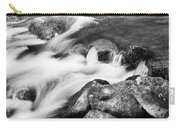Slow Flow Black And White Carry-all Pouch