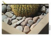 Small Barrel Cactus In Planter Carry-all Pouch
