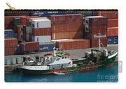 Small Boat With Cargo Containers Carry-all Pouch