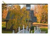 Small Chapel Across The Bridge In Fall Carry-all Pouch