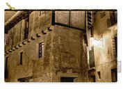 Small House In Albarracin At Night Carry-all Pouch