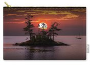 Small Island At Sunset Carry-all Pouch