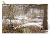 Small Lake In The Snow Carry-all Pouch