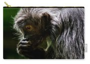 Small Monkey Eating Carry-all Pouch