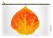 Small Red And Yellow Aspen Leaf 1 - Print Version Carry-all Pouch