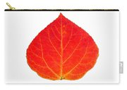 Small Red Aspen Leaf 1 - Print Version Carry-all Pouch