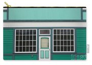 Small Store Front Entrance To Green Wooden House Carry-all Pouch