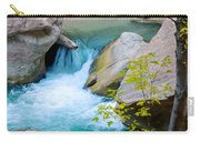 Small Virgin River Waterfall In Zion Canyon Narrows In Zion Np-ut Carry-all Pouch