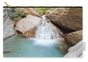 Small Waterfall Casdcading Over Rocks In Blue Pond Carry-all Pouch