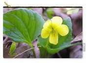 Small Yellow Violet Carry-all Pouch