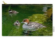 Smew With Ducklings Carry-all Pouch