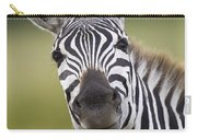 Smiling Burchells Zebra Carry-all Pouch