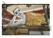 Smiling Reclining Buddha In Yangon Myanmar Carry-all Pouch