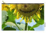 Smiling Sunflower Carry-all Pouch