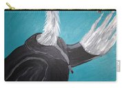 Smoking Egret In Leather Jacket Carry-all Pouch
