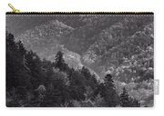 Smoky Mountain View Black And White Carry-all Pouch