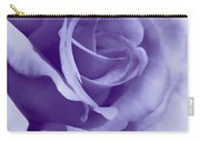 Smoky Purple Rose Flower Carry-all Pouch