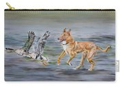 Smooth Collie Trying To Herd Geese Carry-all Pouch