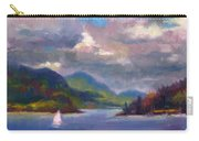 Smooth Sailing Sailboat On Alaska Inside Passage Carry-all Pouch by Talya Johnson