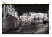 Snails Attack Milan Bw Carry-all Pouch