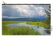 Snake River By Oxbow Bend In Grand Teton National Park-wyoming Carry-all Pouch