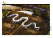 Snake Skeleton And Old Books Carry-all Pouch