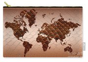Snake Skin World Map Carry-all Pouch