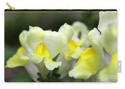 Snapdragons Group Of Yellow Cream Carry-all Pouch