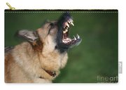 Snarling German Shepherd Dog Carry-all Pouch