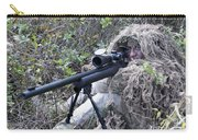 Sniper Dressed In A Ghillie Suit Carry-all Pouch