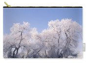 Snow And Ice Blanket Cottonwood Trees Carry-all Pouch