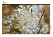 Snow And Ice Macro Carry-all Pouch