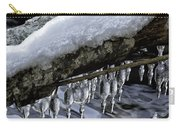 Snow And Icicles Merry Christmas Card Carry-all Pouch