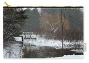 Snow And Stream Carry-all Pouch