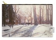 Snow At Broadlands Carry-all Pouch