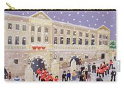 Snow At Buckingham Palace Carry-all Pouch by William Cooper