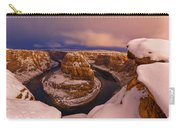 Snow At Horseshoe Bend Carry-all Pouch by Dustin  LeFevre
