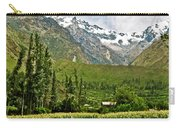 Snow-capped Andes Mountains With Snowline Above 17000 Feet-peru Carry-all Pouch