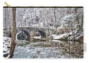 Snow Coming Down On The Wissahickon Creek Carry-all Pouch