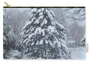 Snow Conifer 2-1-15 Carry-all Pouch
