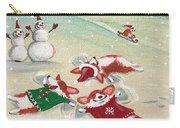 Snow Corgi Carry-all Pouch